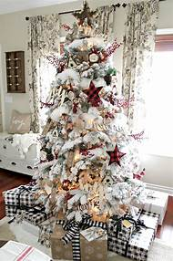 farmhouse christmas tree decorating ideas - Farmhouse Christmas Tree Decorations