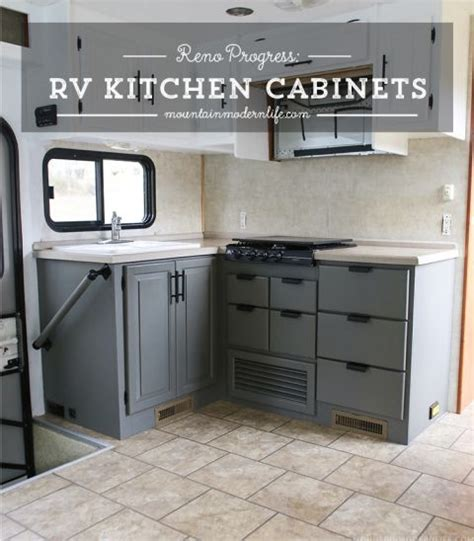 material for kitchen cabinet the progress of our rv kitchen cabinets cer re do 7398