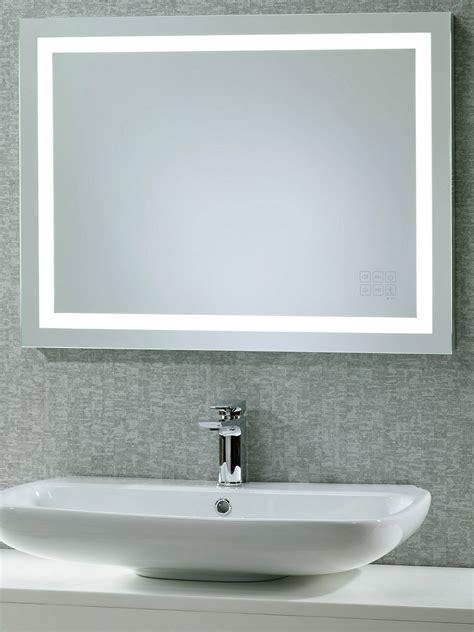 Bathroom Mirrors Illuminated by Roper Beat Illuminated Led Bathroom Mirror With