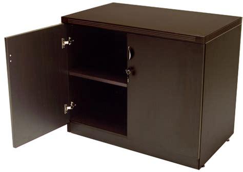 locking storage cabinet mocha u shaped reception desk w frosted glass panel hutch