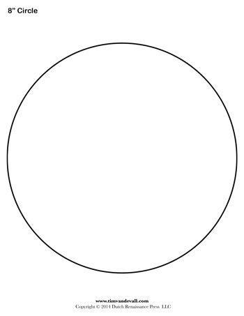 Circle Template  8 Inch  Tim's Printables