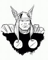 Thor Coloring Daredevil Coloringhome sketch template