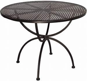 Gartenmöbel Tisch Rund : mbm tisch romeo 1m rund gartenm bel esstisch art jardin ~ Indierocktalk.com Haus und Dekorationen