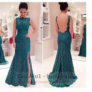 femmes robe longue dos nu dentelle robes elegantes soiree With robe longue dos nu dentelle