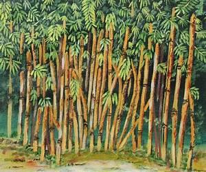 Artwork by Sandhya Joshi - Bamboo Trees - 2