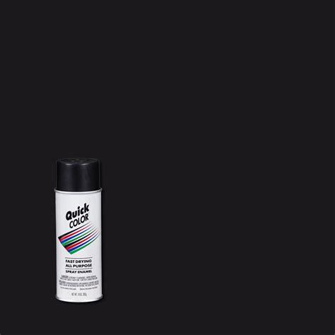 color 10 oz flat black general purpose aerosol