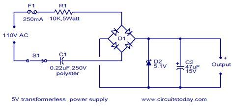 voltage regulator transformerless power supply electrical engineering stack exchange