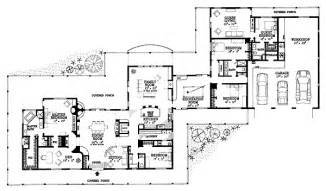 house plans with attached guest house house plan 95254 at familyhomeplans com
