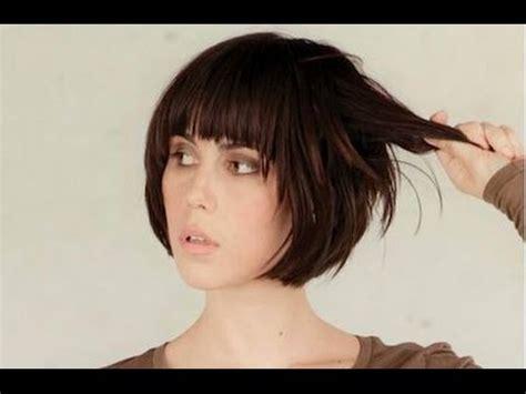 short bob hairstyle  fringe youtube