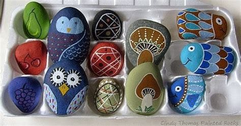 painting rock stone animals nativity sets