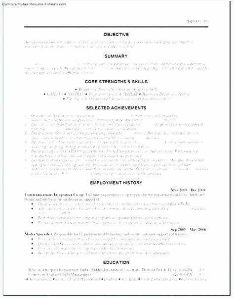 Windows Resume Templates by 10 Professional Cv Template Word Free Free