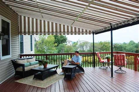 stationary awnings  deck  patio protection window works nj