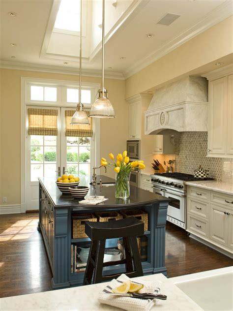 french country kitchen  blue island  rustic range