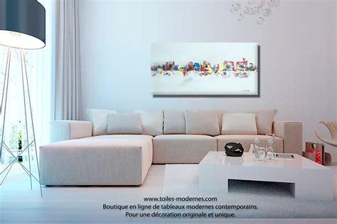 canapé moins de 100 euros tableau gris moderne ville format horizontal pièce unique