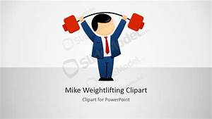 Mike Male Cartoon Weightlifting Clipart