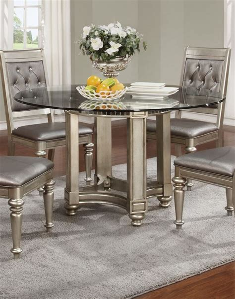silver dining table set bling game silver dining room set for the home