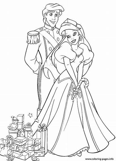 Coloring Princess Disney Eric Ariel Pages Gifts