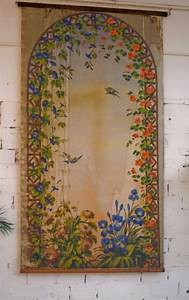 Tenture Ancienne Panneau Dcoratif Ancien Vintage