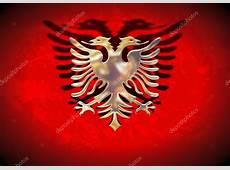 Gold Albanien Flagge — Stockfoto © darrenw #5545573