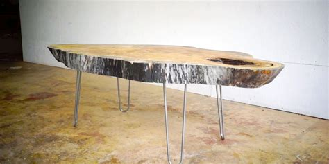 how to make a live edge table build a live edge modern coffee table from a slab of wood