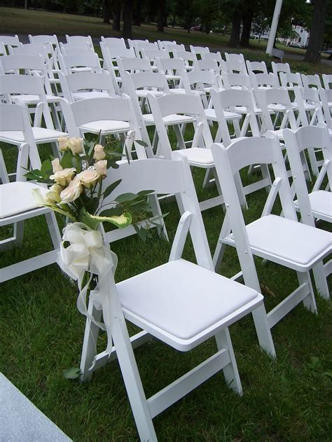 nolans rental white padded chairs for ceremonies or event