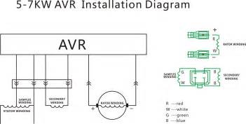 circuit diagram for generator avr collections
