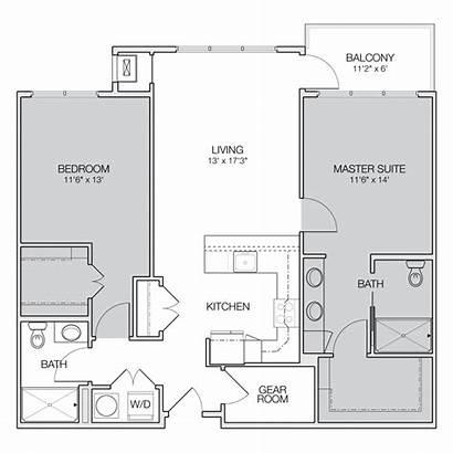 Floor Apartment Bedroom Plan Bath Plans Apartments