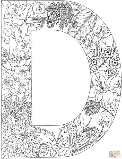 Kleurplaat Mandala Letter D by Letter 0 Coloring Pages 10 Diy And Crafts Coloring