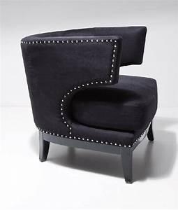 Fauteuil Design Confortable : opera fauteuil velours noir cloute confortable design ~ Teatrodelosmanantiales.com Idées de Décoration