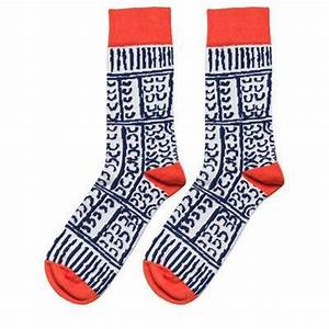 Navy Aboriginal Artwork Socks Unique Australian Made