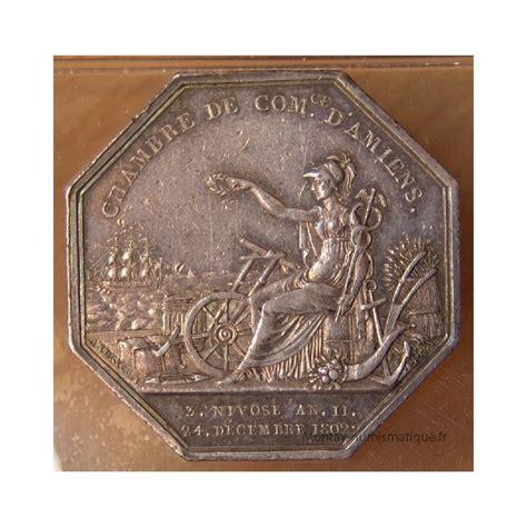 chambre des commerces amiens jeton chambre de commerce d 39 amiens 1804 montay numismatique