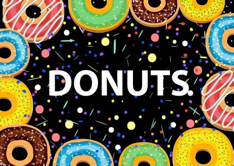 donuts background colorful  cakes icons vectors stock