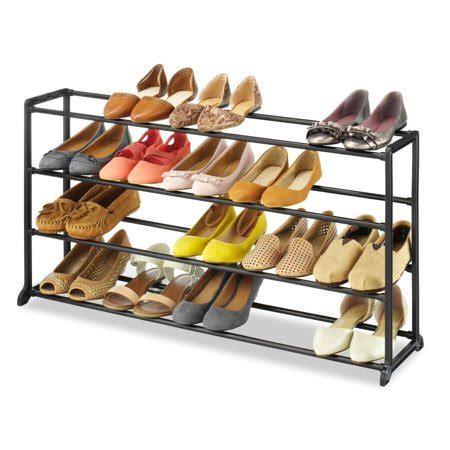shoe racks walmart 20 pair 4 tier shoe tower rack organizer space saving shoe