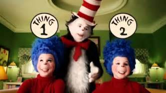 cat in the hat thing 1 and thing 2 thing one and thing two