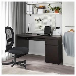 Ikea Schreibtisch Glasplatte : malm schreibtisch schwarzbraun ikea ~ Watch28wear.com Haus und Dekorationen