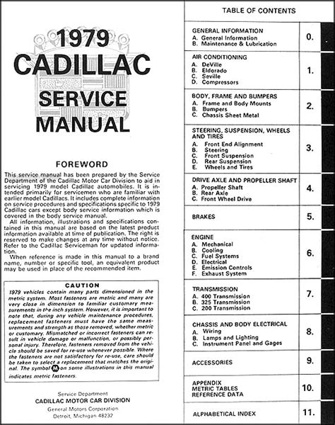 free online car repair manuals download 1993 cadillac fleetwood auto manual 1979 cadillac repair shop manual original