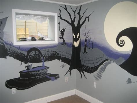 Nightmare Before Themed Room by Artspace The Nightmare Before Mural