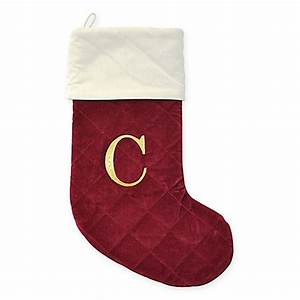 buy harvey lewistm letter quotcquot thick quilted velvet monogram With christmas stocking letter c