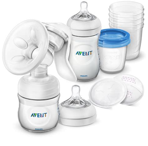 Avent Philips Natural Breastfeeding Set With Manual Breast