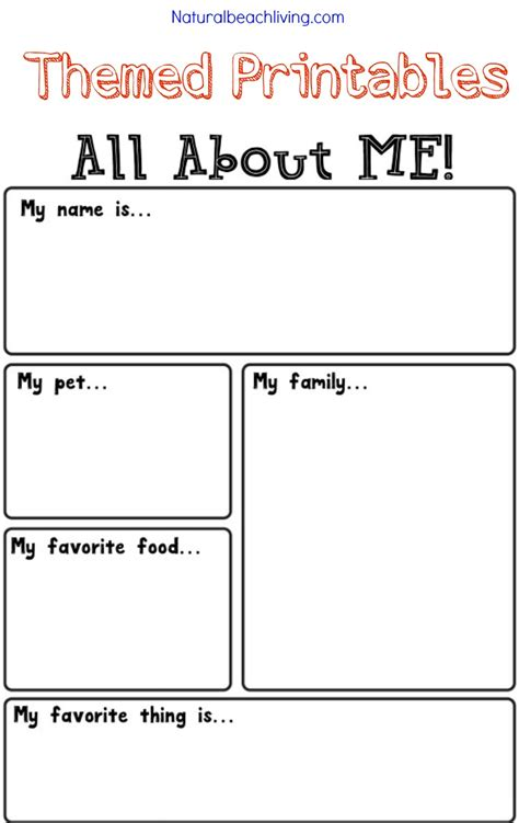 all about me activity theme for preschool amp kindergarten 865 | all about me theme printables pin2