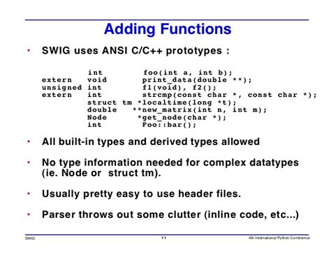 swig  control prototype  debug  programs