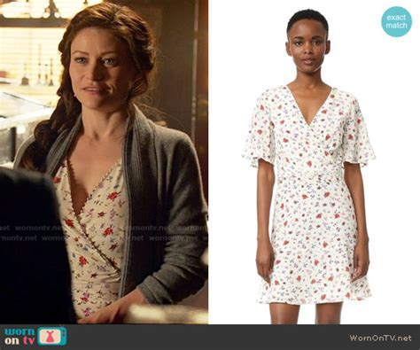 siege the kooples wornontv s white floral wrap dress on once upon a