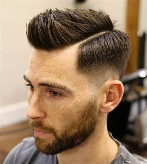 ideas  side part fade  pinterest side part pompadour long fade haircut