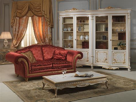 living room  venice glass showcase  louis xv style