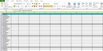 Workout Plan Template Excel Workout Plan Spreadsheet For Excel Excel Tmp