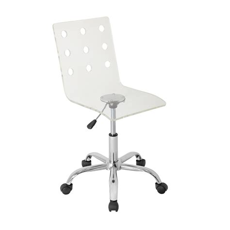 Clear Acrylic Desk Chair swiss acrylic office chair clear