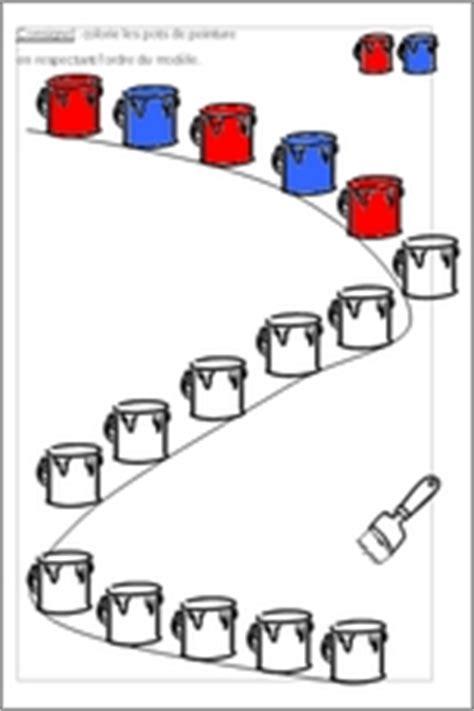 fiches dactivites maternelles algorithme peinture