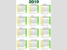Calendário Lunar 2019