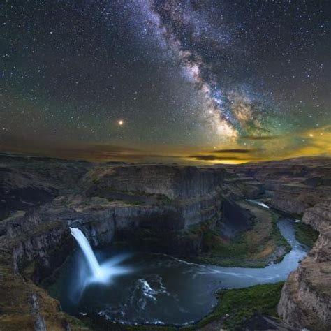 Milky Way Over Falls Tumblr