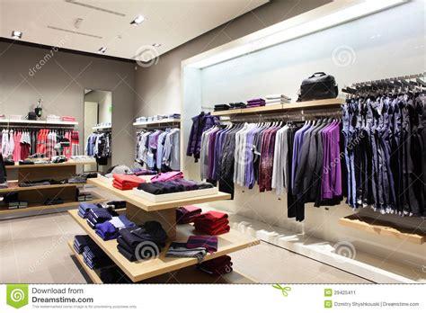 magasin de vetement de cuisine magasin moderne et de mode de vêtements image stock
